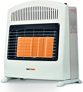 Calefactor de Ambiente de Pared Heat Wave HG5W de gas LP con Cinco Radiantes.