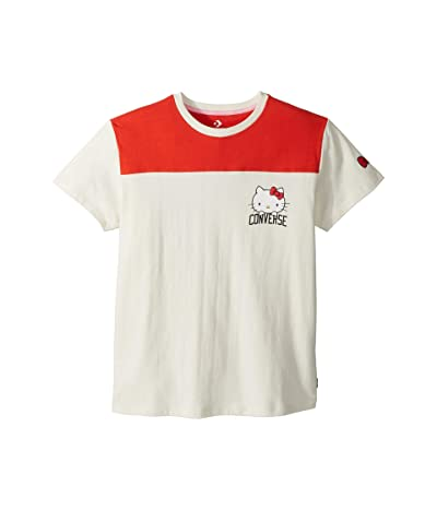 Converse Hello Kitty(r) Short Sleeve Football Tee (Egret) Women