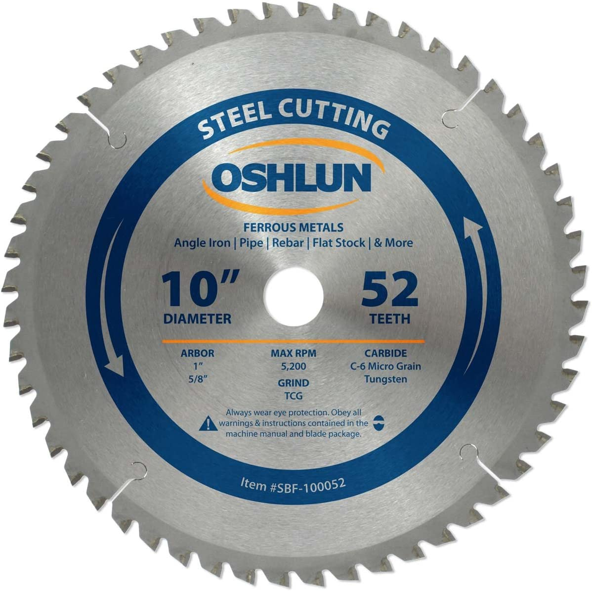 New sales Oshlun SBF-100080 Low price 10-Inch 80 Tooth TCG 5 Saw with Blade A 8-Inch