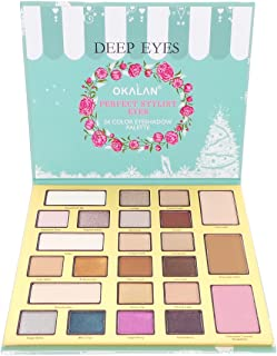 OKALAN Deep Eyes 24 Color Eyeshadow Palette (並行輸入品)