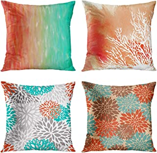 Britimes Throw Pillow Covers Home Decor Set of 4 Pillow Cases Decorative 18 x 18 Inches..