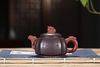 Teapot Purple Clay Teapot Ore Clear Cement Quartet Dragon Statue Maker JFYCUICAN (Color : Purple mud)