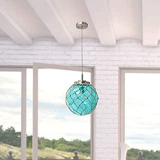 Elegant Designs PT1003-AQU Nautical Ceiling Light Pendant, Aqua