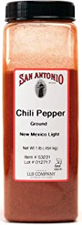 1-Pound Ground Premium Red New Mexico Mild Light Chile Pepper Chili Powder