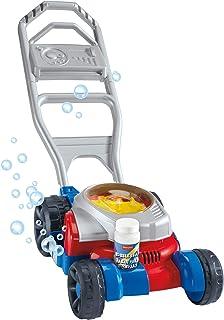 Fisher-Price Cortacésped de burbujas de juguete de empuje al aire libre cortadora de césped para niños pequeños y niños preescolares