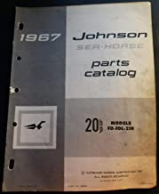1967 JOHNSON SEA-HORSE OUTBOARD 20 HP PARTS MANUAL FINAL P/N 382088 (871)