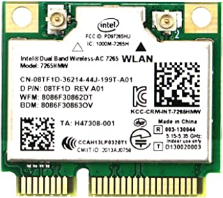 Wireless Network Adapter for Laptop and Desktop PCs–Mini PCIE Wi-Fi Card-802.11AC 2x2 MIMO-2.4GHz 300Mbps or 5GHz 867Mbps ...