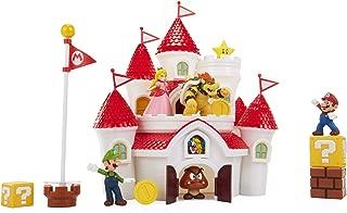 Nintendo Super Mario Deluxe Mushroom Kingdom Castle Playset with 5 2.5