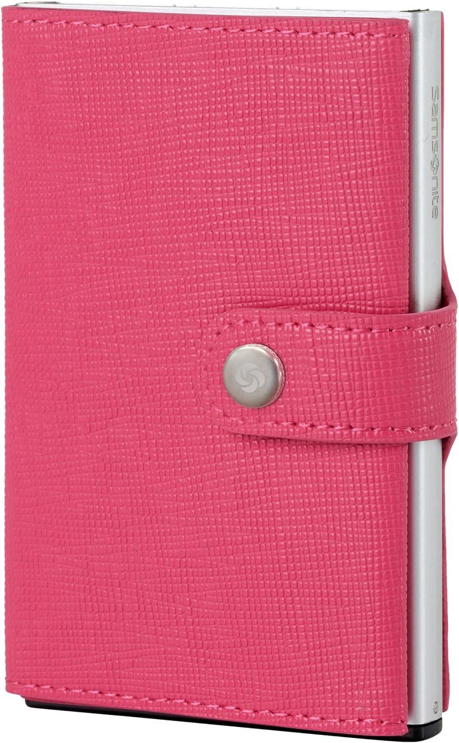Cartera Samsonite   Piel Premium ALU FITl   Slide-UP Case   Protector RFID Y NFC (Rosa Fucsia)