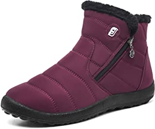 Winter Snow Boots for Women Waterproof Anti-Skid House Shoes Ankle Outdoor for Couples