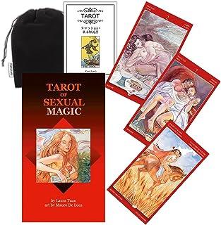 Kancharo タロットカード 78 枚 タロット占い【タロット オブ セクシャルマジック Tarot of Sexual Magic】日本語説明書&ポーチ付き(正規品)