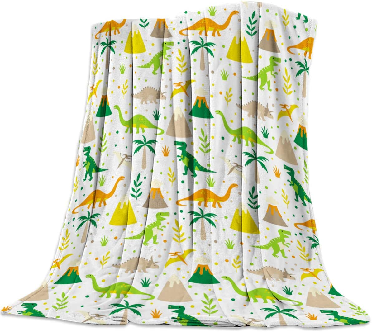 CHARMHOME OFFicial site Flannel Fleece Microfiber Dinosaurs Throw Cute Max 70% OFF Blanket