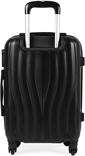 Spectrum ABS 56 cms Black Hardsided Cabin Luggage 6447 BK