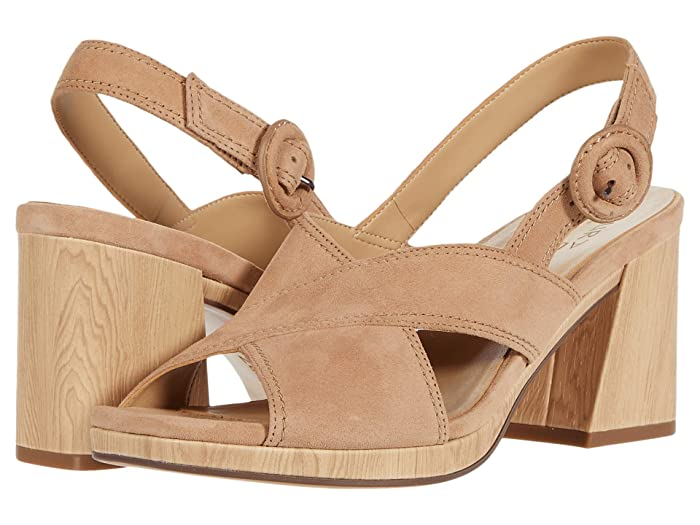 70s Shoes, Platforms, Boots, Heels | 1970s Shoes Naturalizer Renly Bamboo Tan Suede Womens Shoes $90.99 AT vintagedancer.com