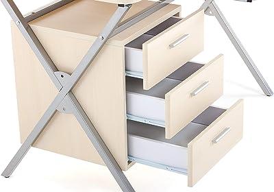 Mesa de escritorio blanca montada lista para ser utilizada ...