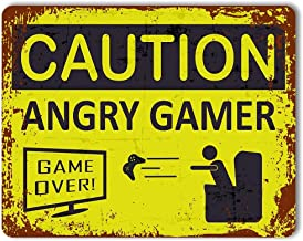 ANGRY GAMER CAUTION GAME OVER COMPUTER  HUGE LARGE WALL ART POSTER PICTURE