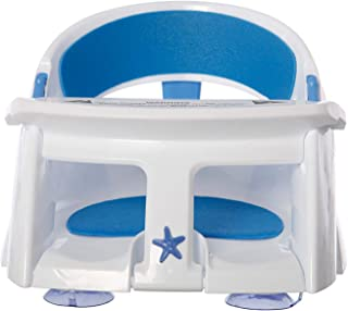 Dreambaby Deluxe Bath Seat with Foam Padding and Heat Sensing Indicator, White