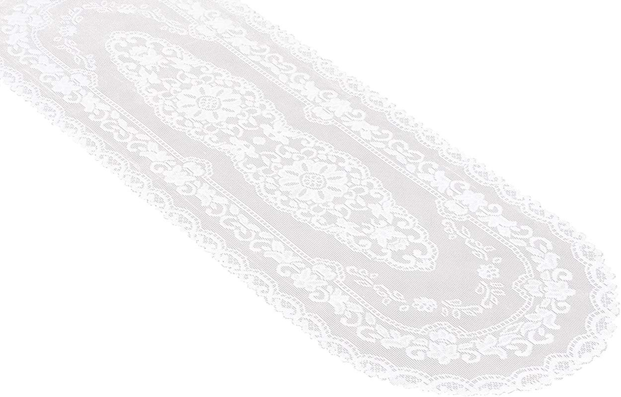 Miles Kimball White Lace Table Runner 15 X 45