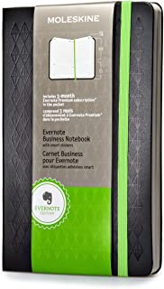 Moleskine Evernote Business Notebook with Smart Stickers, Large, Black, Hard Cover (5 x 8.25)