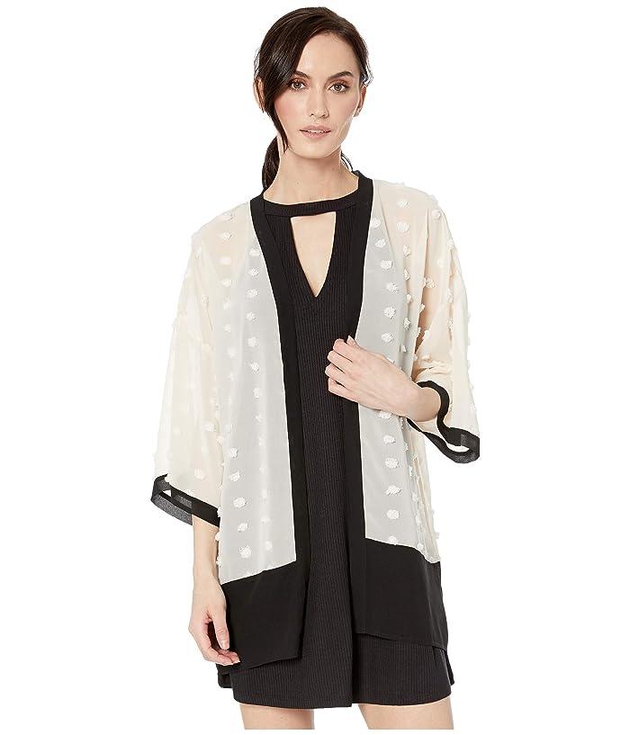 Echo Design Color Block Kimono (Black/Cream) Women