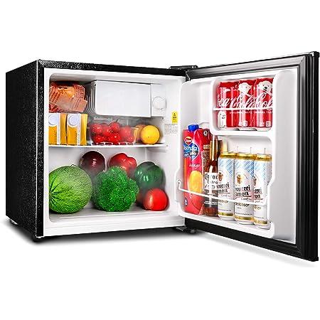 Mini Fridge, TACKLIFE Small fridge 1.6 Cu.Ft 37dB, Energy Star, 5 Temperature Settings, Reversible Door, Compact Refrigerator with Freezer for Bedroom, Dorm, RV, Outdoor