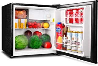 Compact Refrigerator, TACKLIFE 1.6 Cu Ft Mini Fridge with Freezer, Energy Star Single Door, Steel, Black, for Dorm, Office, Garage, Camper, Basement- MPBFR161