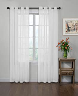 Curtain Fresh Arm and Hammer Odor Neutralizing Sheer Voile Grommet Window Curtain for Bedroom or Living Room (1 Panel), 59...