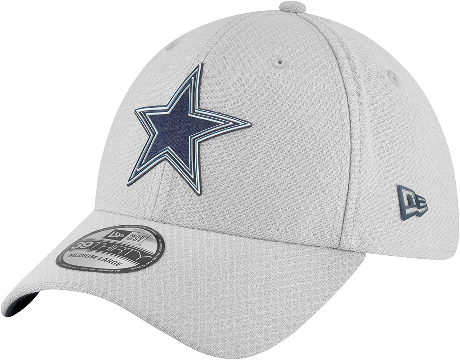 (M-L, Grey) - Dallas Cowboys New Era Training 39Thirty Cap