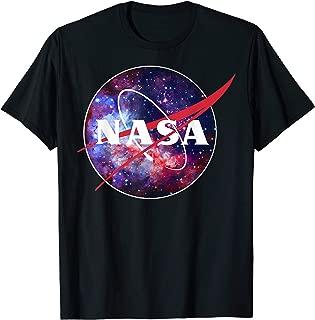 NASA Purple Pink Mix Galaxy Style Logo Graphic T-Shirt