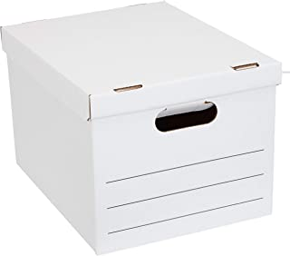 AmazonBasics Basic Duty Storage/Filing Boxes with Lift-Off Lid - Legal/Letter Size, 20-Pack
