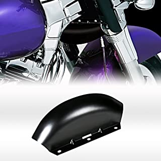Black Lower Triple Tree Wind Deflector For Harley 1980-2013 Touring Street Glide Road King Models