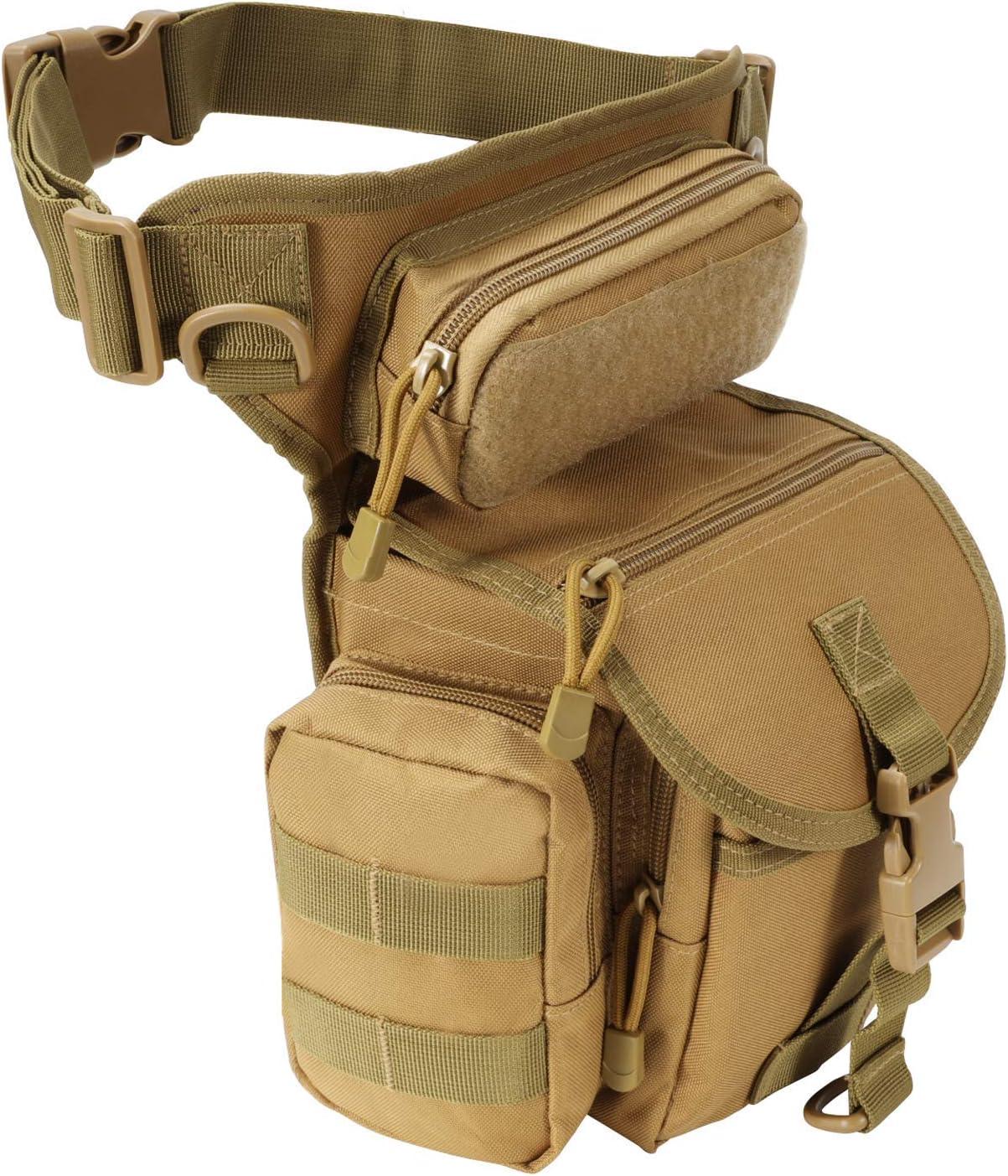 Jueachy Drop Leg Bag Mesa Mall for Max 51% OFF Men Tactica Pack Anti-Shock Molle Waist