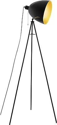 Eglo 43008 Lampe Sur Pied, Noir/Doré