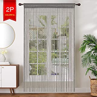 AIZESI 2PCS String Door Curtain Fly Bug Screen String for Doorways Divider or Window Curtain Panel 39
