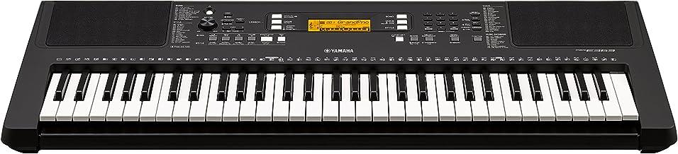 Yamaha PSR-E363 - Teclado digital portátil para principiante con 61 teclas sensibles a la velocidad con múltiples funciones de aprendizaje y Modo Dúo, color negro