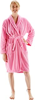 Women's Robe Microfiber Plush Fleece Bathrobe