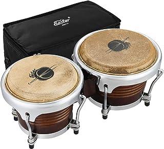 Eastar EBO-21 Bongo Drum Set 7 '' و 8 '' Buffalo Leather African Drum Instrument Wood Percussion Instrument Wood with Tuncus