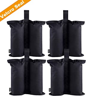 Ohuhu Canopy Weight Bags for Canopy Tent, Up to 115 LBS Capacity Sand Bags Leg Weights for Pop Up Instant Outdoor Sun Shelter Canopy Legs, 4-Pack (Bags Only, Sand Not Included)