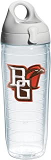 Tervis 1073785 Bowling Green State University Emblem Individual Water Bottle with Gray lid, 24 oz, Clear
