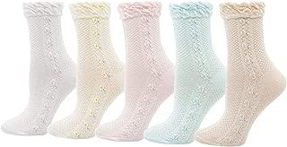 Womens Ruffle Trim Elastic Casual Socks, Multicoloured