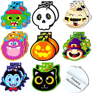 Joy Bang Halloween Note Pads Halloween Notepads for Kids Spooky Characters Halloween Notebooks Mini Halloween Notepads Par...