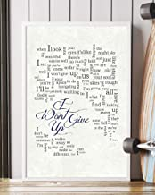 Mattata I Won't Give Up Lyrics Portrait Poster Print (16