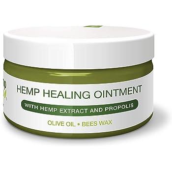 Universal Hanf-SALBE von HEMP4HELP Bestseller zur Hautpflege bei Schuppenflechte und Neurodermitis geeignet. Mit BIO-HANF Extrakt , PROPOLIS unraffiniert und Bienenwachs 100 ml.Für die intensive Haut-Pflege als Körper Wund-Heil Salbe