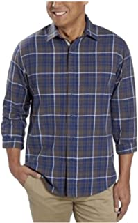 Age of Wisdom Mens Woven Long Sleeve Button Down Shirt