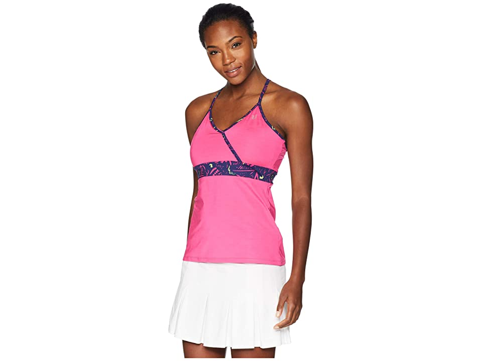 Eleven by Venus Williams Portal Tank Top (Pink Yarrow) Women