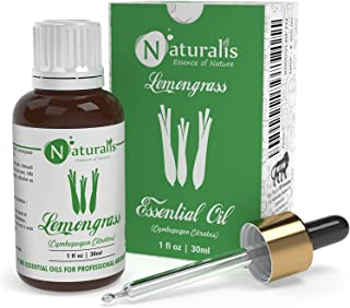 Naturalis Essence of Nature Lemongrass Essential oil 100% Undiluted Pure and Natural Therapeutic grade for skin, Hair car...