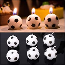 Candles 6Pcs/Set Cute Soccer Ball Football Candles for Birthday Party Kid Supplies Decor Wedding Garden Decoration Party Cake
