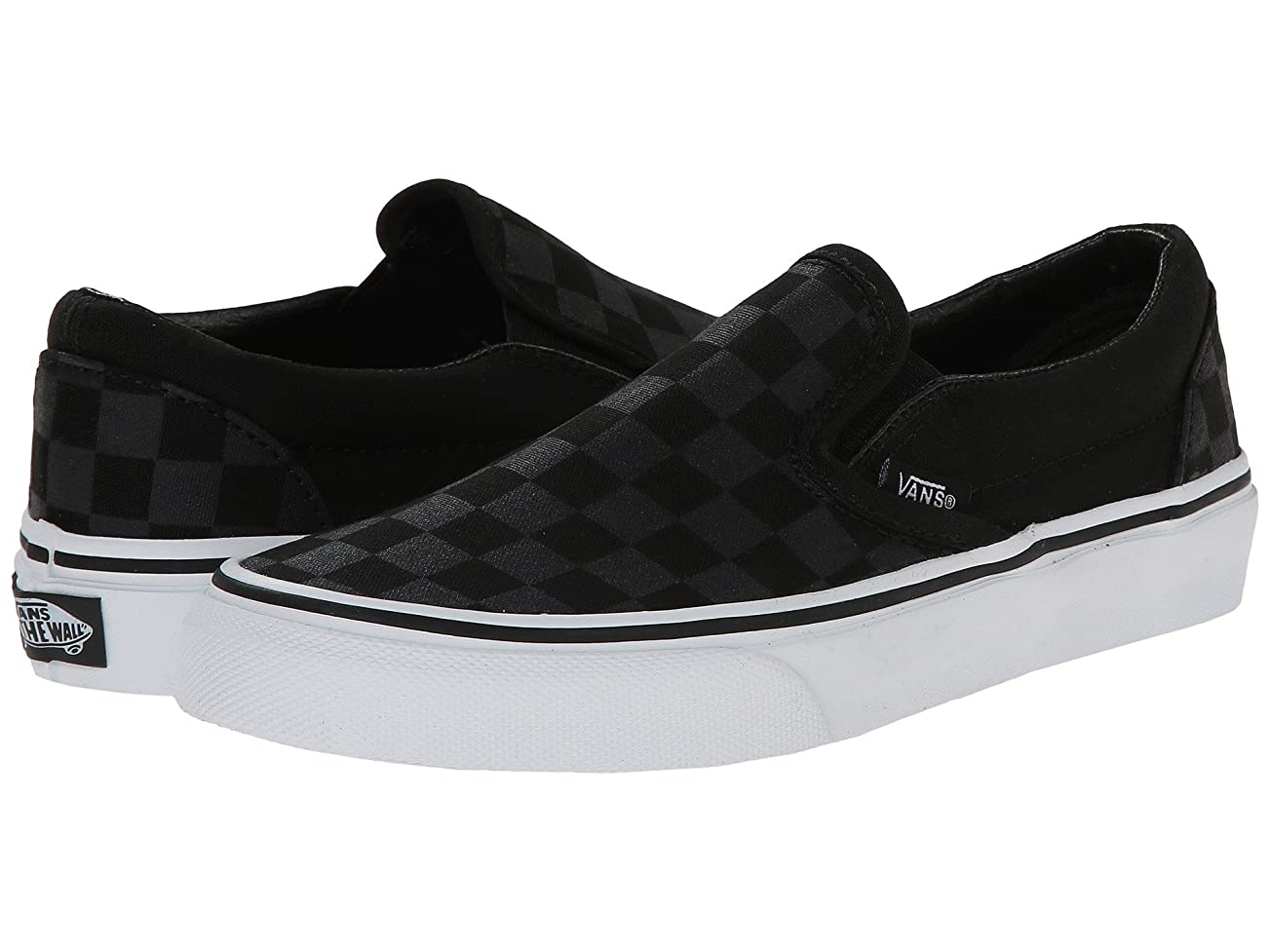 富豪遠征後者(バンズ) VANS メンズスニーカー?靴 Classic Slip-On Core Classics (Checkerboard) Black/Black Men's 11.5, Women's 13 (29.5cm(レディース30cm)) Medium