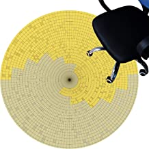 Office Chair mat for Hard Floors, Floor Protector Mats, Short Pile Surface, Non-Slip Bottom, Scratch-Resistant Circle Rug ...