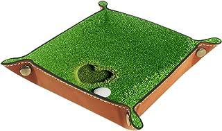 Yuzheng Golf Amour Herbe Tiroir Plateau Bureau Papeterie Articles Divers Gadget Pliable en Cuir Organisateur Boîte De Rang...